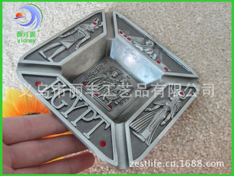新款埃及金属创意烟灰缸高档旅游纪念礼品厂家定制定做 - 义乌市丽丰工艺品 - 义乌市丽丰工艺品