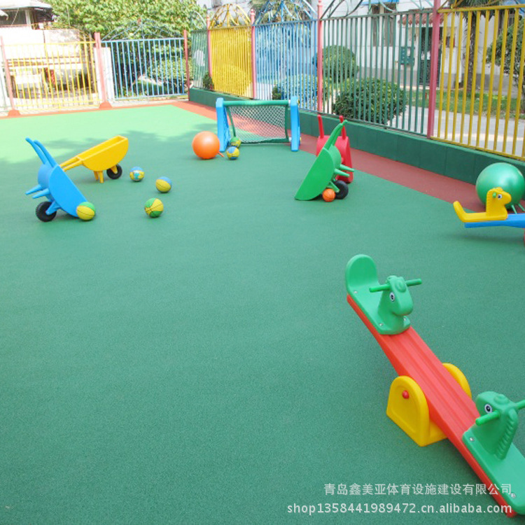 【橡胶场地适用于幼儿园、操场、户外活动等公