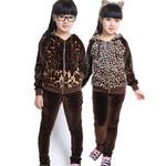 广东品质童装  童装秋款 13新款童套装 中大童豹纹运动套装2