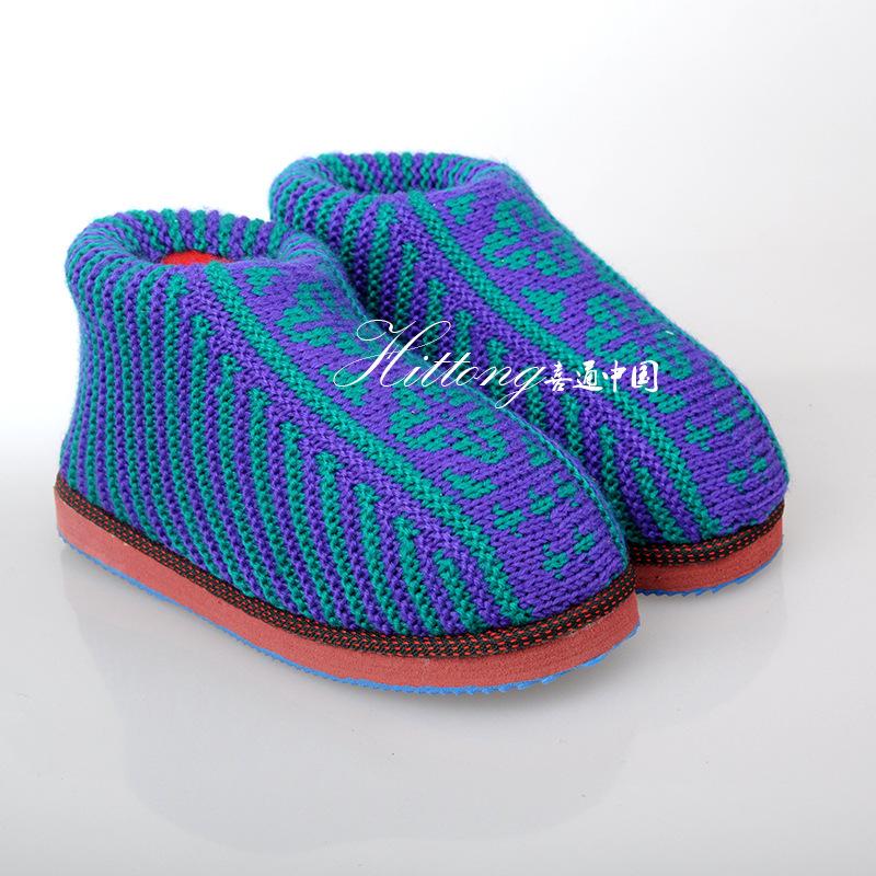 ... 毛线 织 拖鞋 毛线 织 拖鞋 教程 棒 针 编织 650x487
