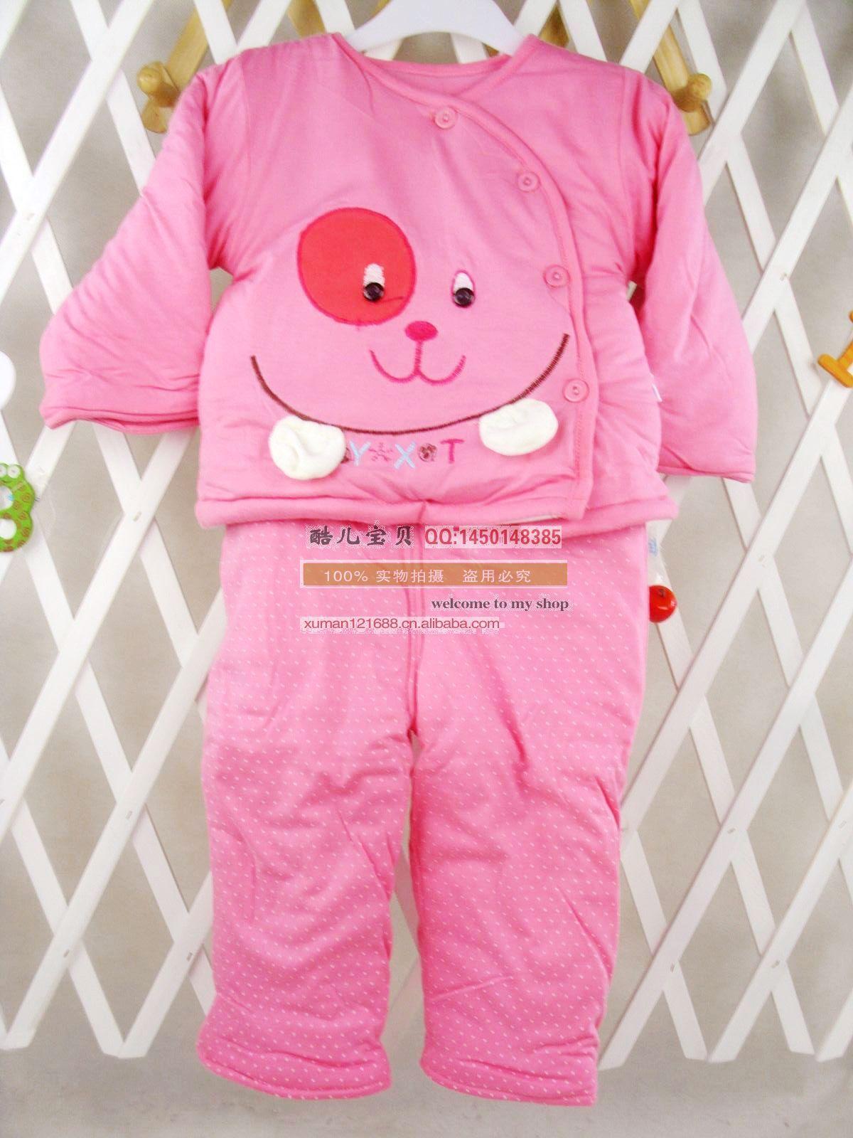 是冬款促销 婴幼儿棉袄棉裤套装 同心悦偏襟棉服套装2995的详细介