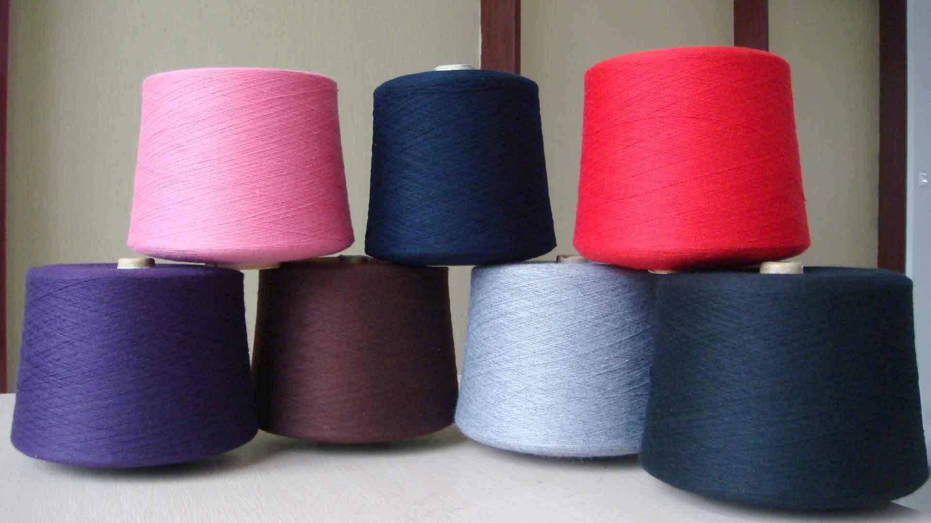 全棉纱线 麻灰线 彩色纱线加工定做 色纺纱 色纺线
