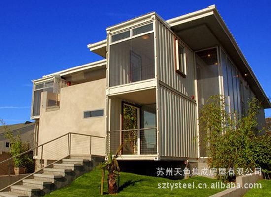 【供应集装箱别墅(生产、设计、销售、搭建、别墅户外灯具太阳能图片