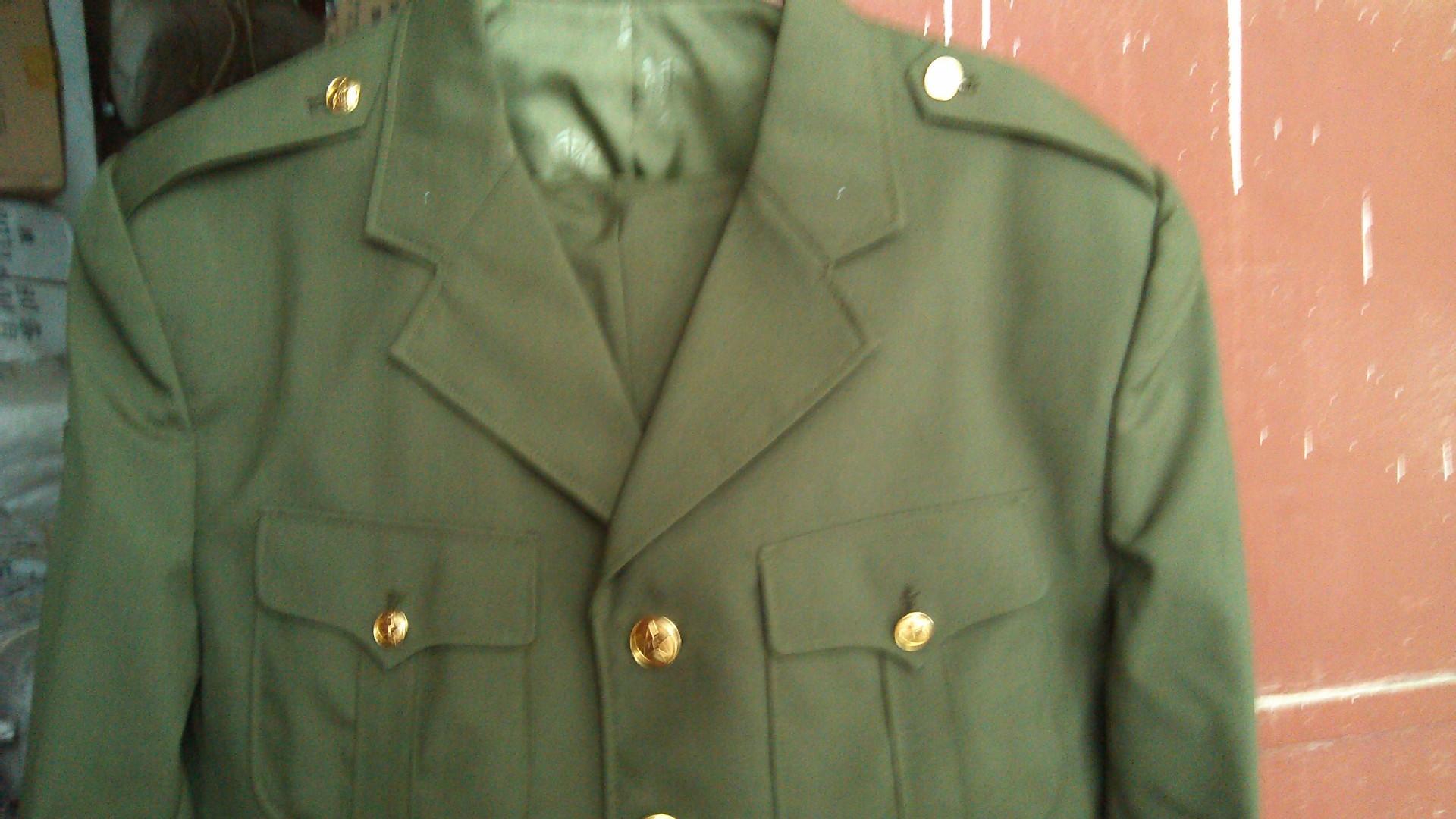 87陆军军官夏常服 老式军装 87全衬毛料军官夏常服 87空军夏常服 -价图片