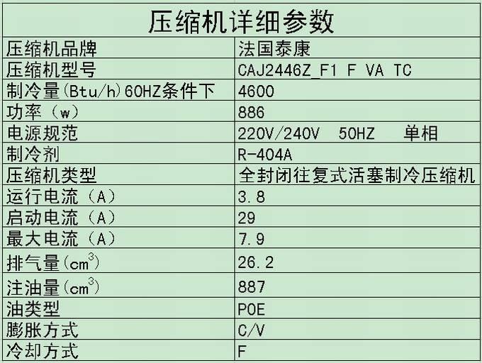泰康制冷压缩机 CAJ2446Z泰康压缩机 低温压缩机 冷冻冷藏