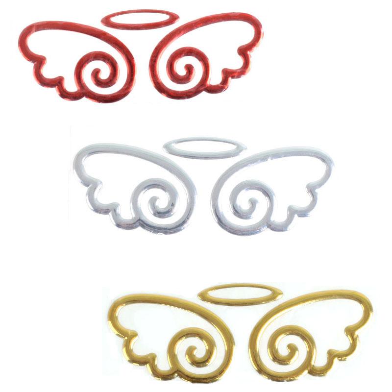 低价批发经典炫酷造型天使之翼天使翅膀金属车贴 批发 混批图片