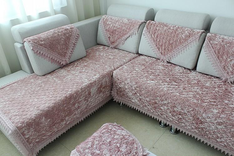 丝绒金钻绒防滑沙发垫布艺坐垫欧式高档沙发巾飘窗垫 -价格,厂