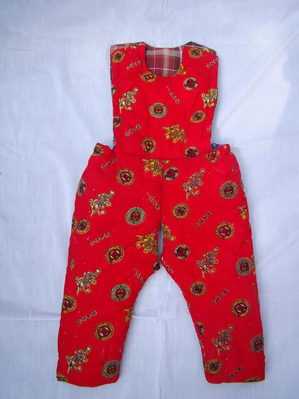 宝宝纯手工棉花棉衣婴儿棉花棉袄棉裤冬季加厚型宝宝棉衣套装定图