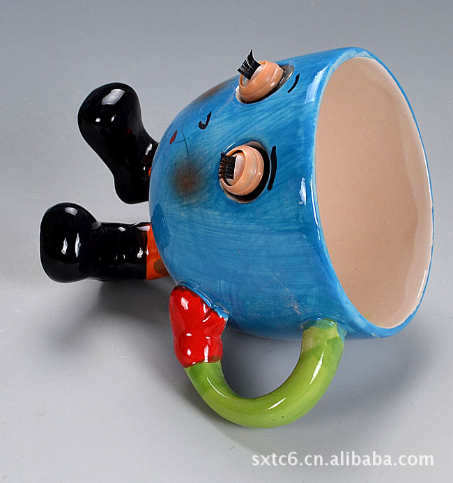 【v表情表情杯丨图片陶瓷杯丨环保白云土表情杯扣表情包儿表情q图片