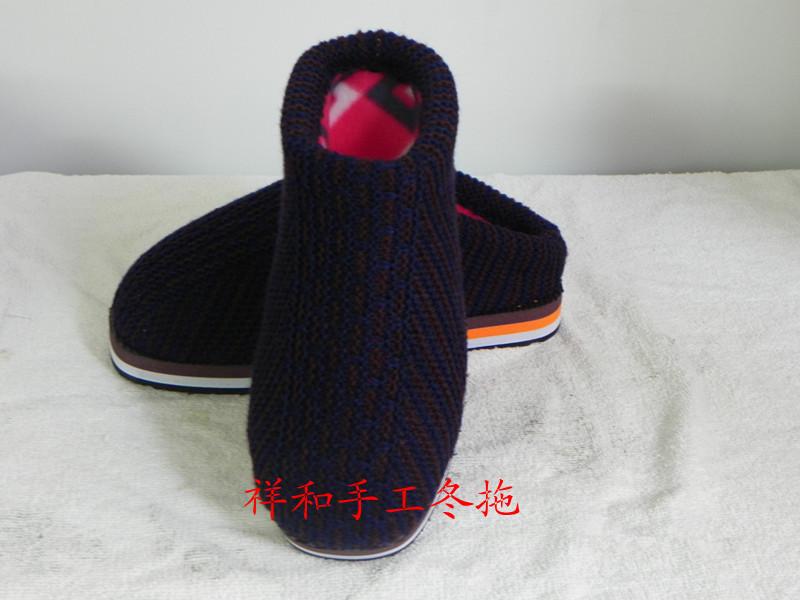 【毛线图案a毛线棉拖鞋图纸价格多色手工】拖鞋cad的总是怎么方格打印黑白图片