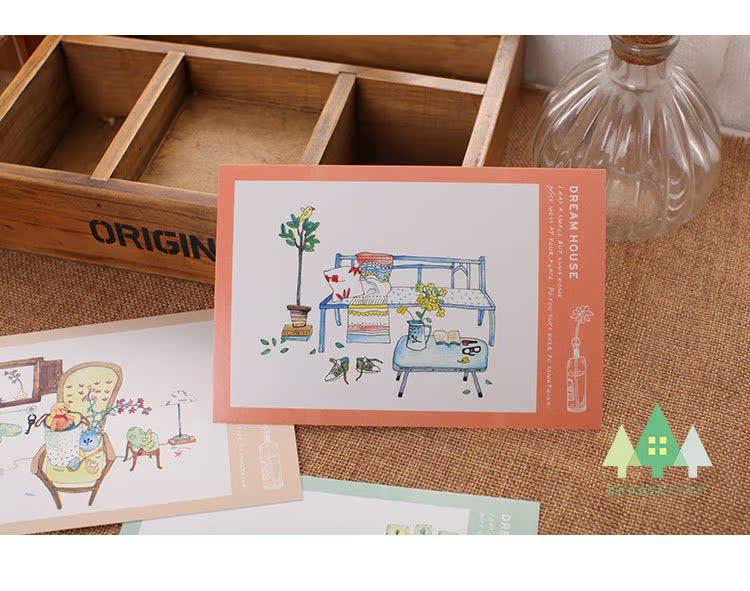怎么画,diy明信片 素材画,明信片的画简单点的_笔签画 ...