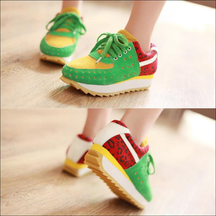 Korean version of the popular models matte leather lace casual female sweet lady shoes HX-862-22