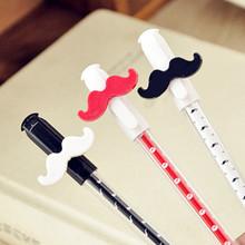 日韩国款创意可爱卡通中性笔全针管签字笔水笔 胡子款文具批发