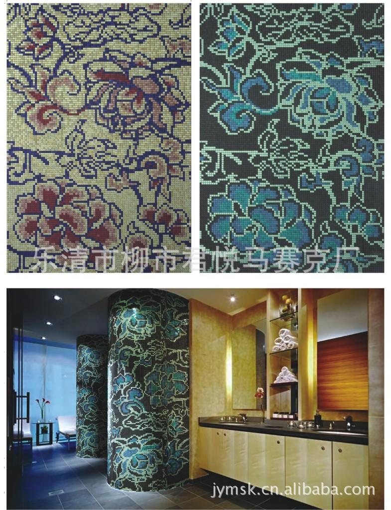 马赛克拼图 圆柱子背景 工程特价 -价格,厂家,图片,釉面内墙砖,