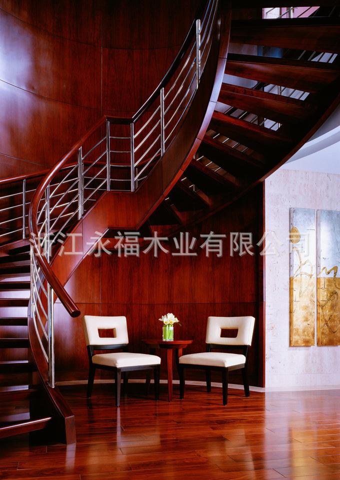 【实木插座楼梯楼梯别墅上虞绍兴定做定制家用标准高度别墅车库图片
