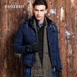 BOSIBIO 2013冬季新款大牌男式保暖外套 加绒休闲连帽男式棉衣