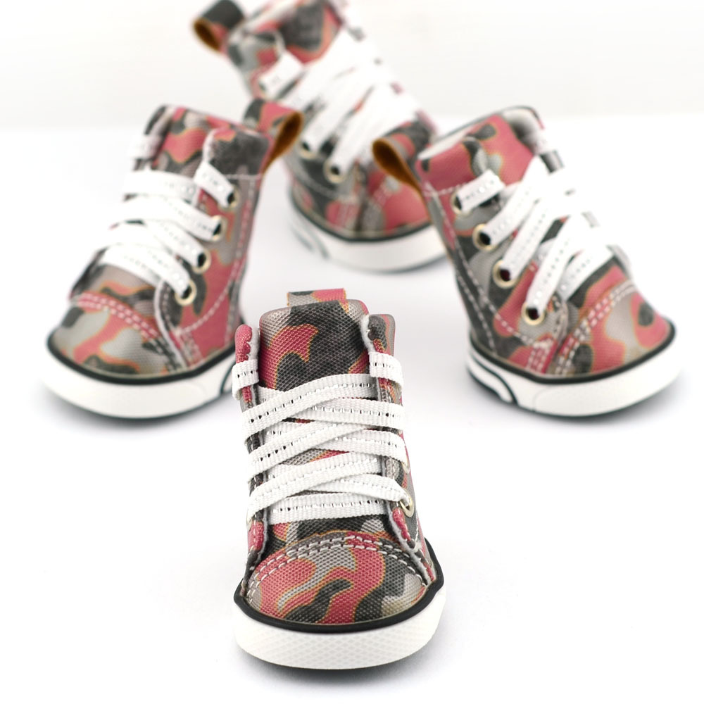 lacing camouflage pu leather puppy boots water proof anti