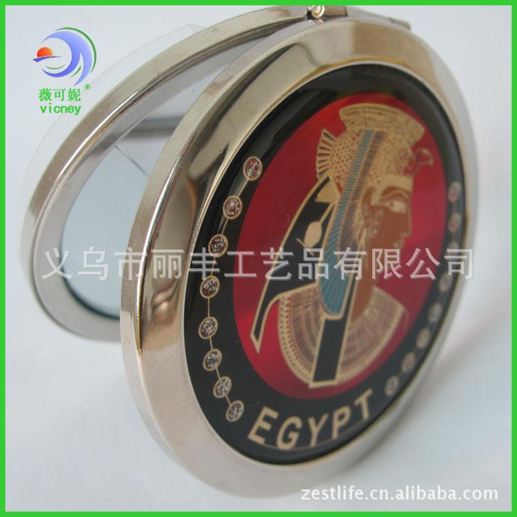 埃及旅游纪念品套色CD纹金属化妆小镜子工艺镜子定制定做 - 义乌市丽丰工艺品 - 义乌市丽丰工艺品