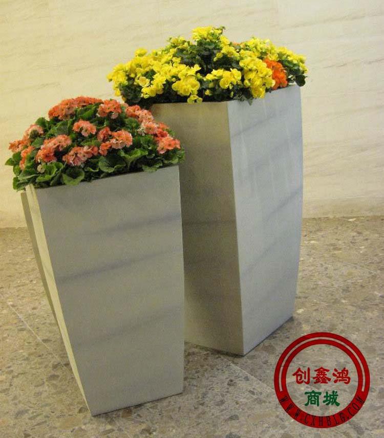 玻璃钢组合花盆 仿木质花盆 长方形花盆 落地组合花盆 花盆制作厂 -价