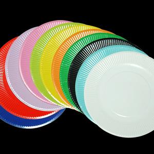 幼儿园手工材料diy儿童手工制作纸盘-7寸混色纸盘子