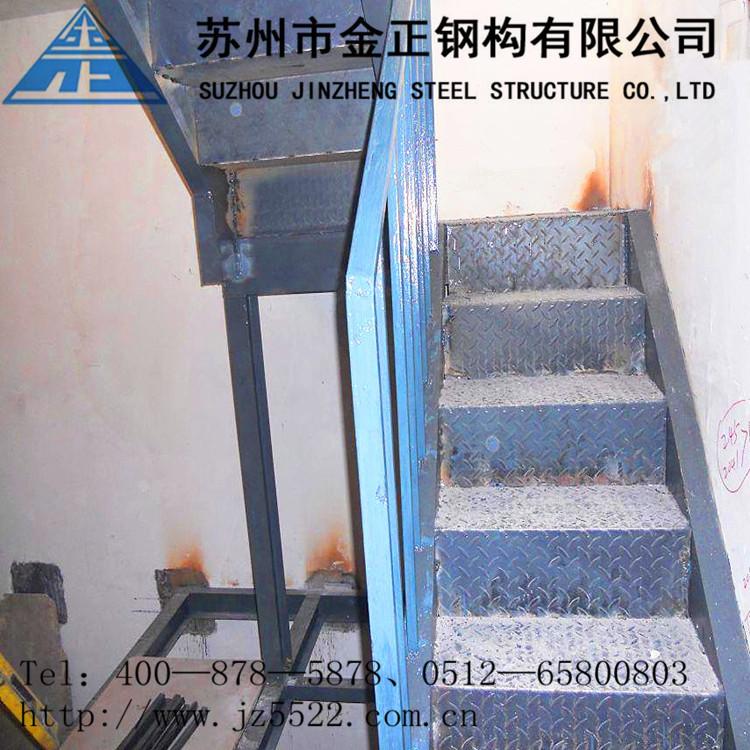 【钢结构图纸室外消防用钢蒸汽无锡钢地窖制楼梯楼梯魔附楼梯图片