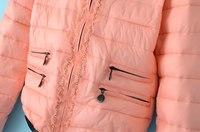 новая зимняя мода марлевые цепь o-образным вырезом женская куртка с длинными рукавами короткая конструкция женщин вниз пальто теплый вниз куртки и пиджаки одежда