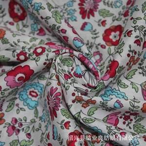 厂家直销 女装面料 平纹棉布 花型鲜艳清晰 女装裙子面料