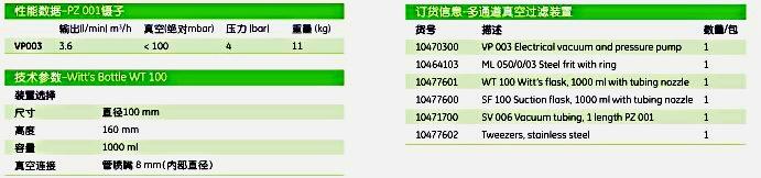 英国Whatman10470300真空压力泵过滤装置 VP003 VAC/PRESS PUMP 1/PK