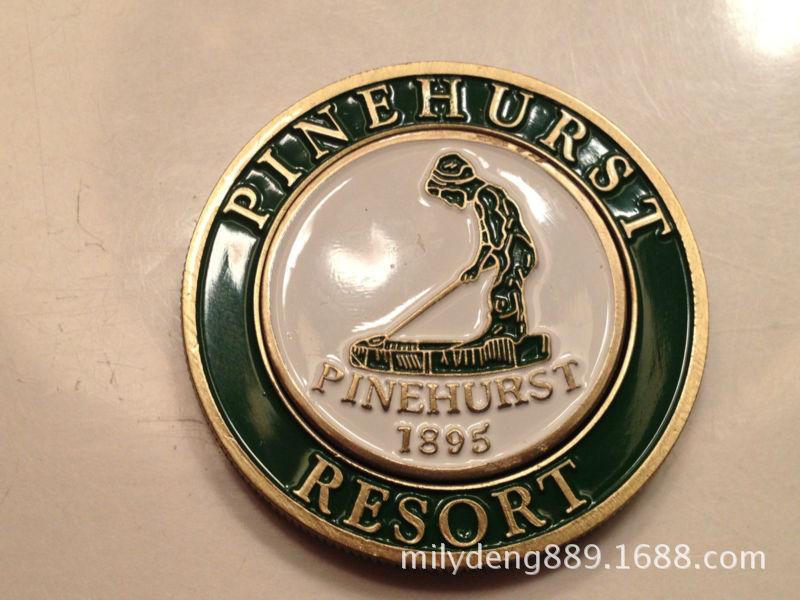 中山厂家专业定做仿珐琅高尔夫球比赛烤漆金属奖章 纪念币