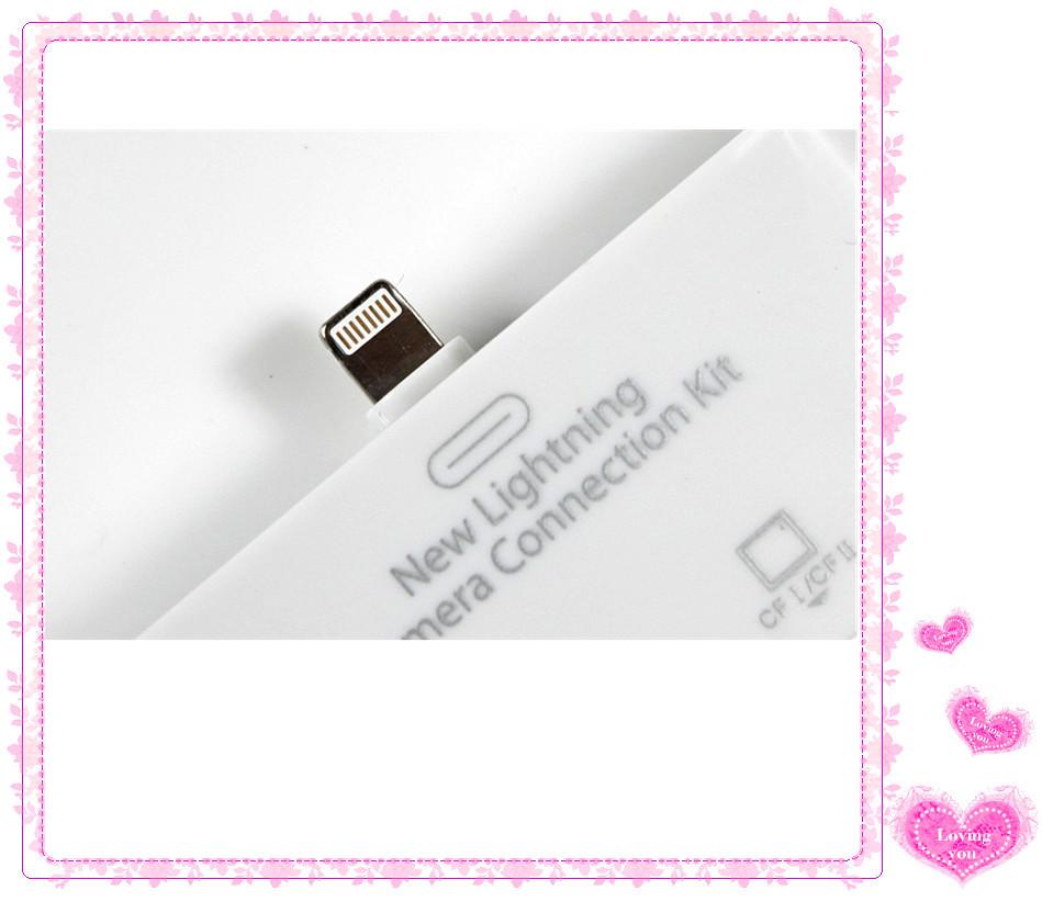 【新lightning苹果iPad4iPadMini二合一CF+Udn65快速接头图片