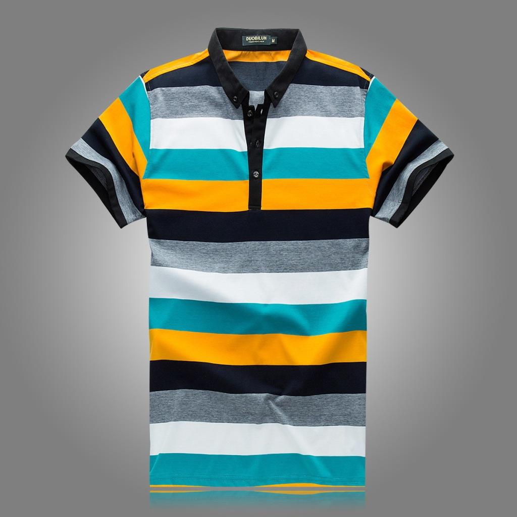 男士 新款 翻领/多比伦服饰2014新款男式T恤全棉男士短袖夏季男装翻领5836