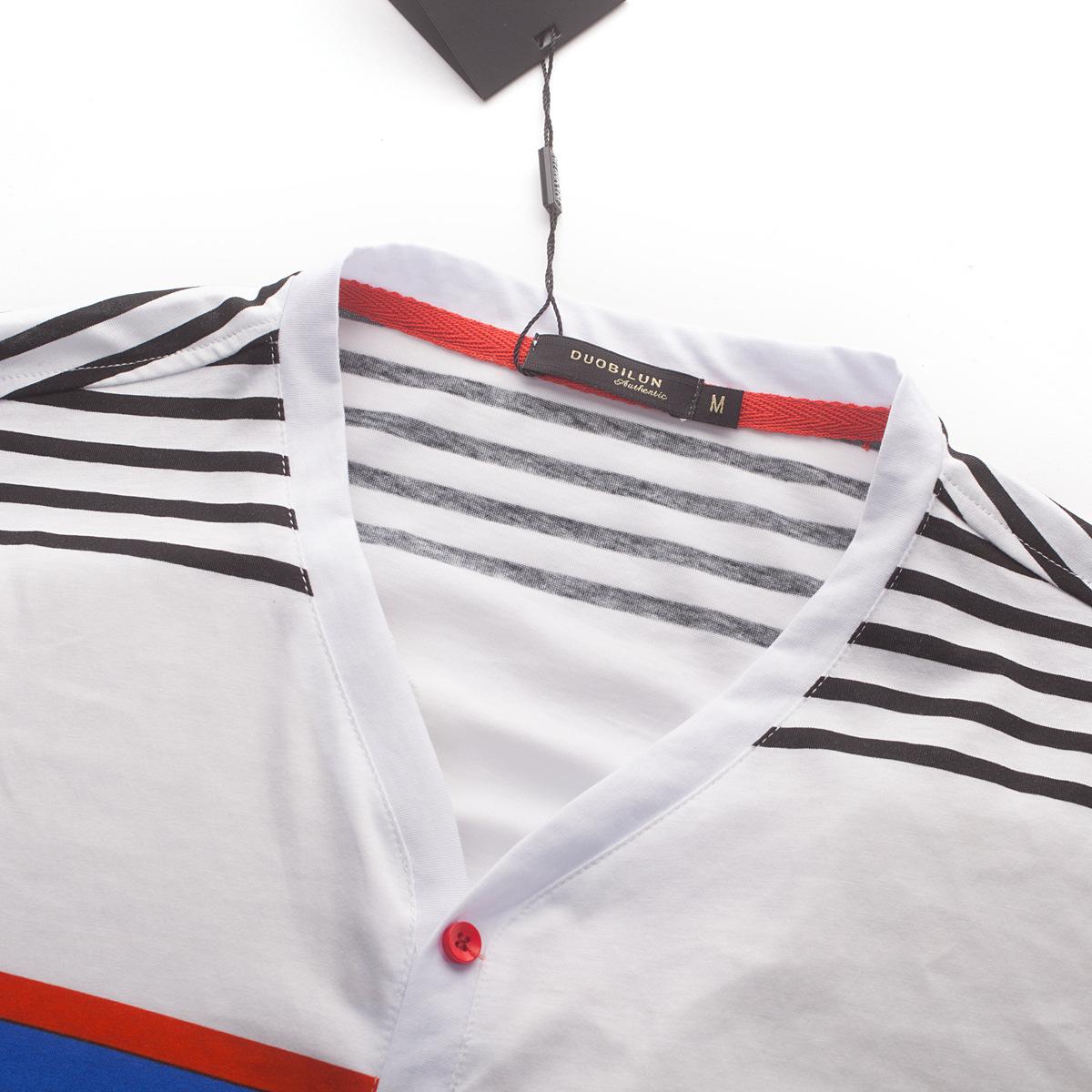 男士 新款 短袖/多比伦服饰2014夏季男装V领新款男式t恤全棉男士短袖5851