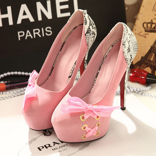 In the spring of 2015 the new super 14 cm high heels Korean princess nightclub waterproof Taiwan sexy fine documentary s's main photo