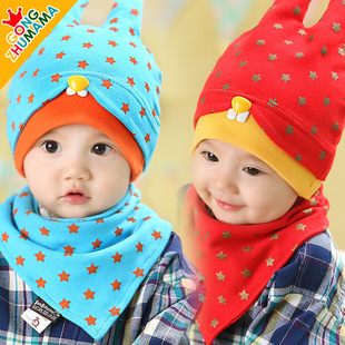 3714 newborn baby hat baby hat children in spring and autumn head cap sleeve cap sleeve cotton bandage