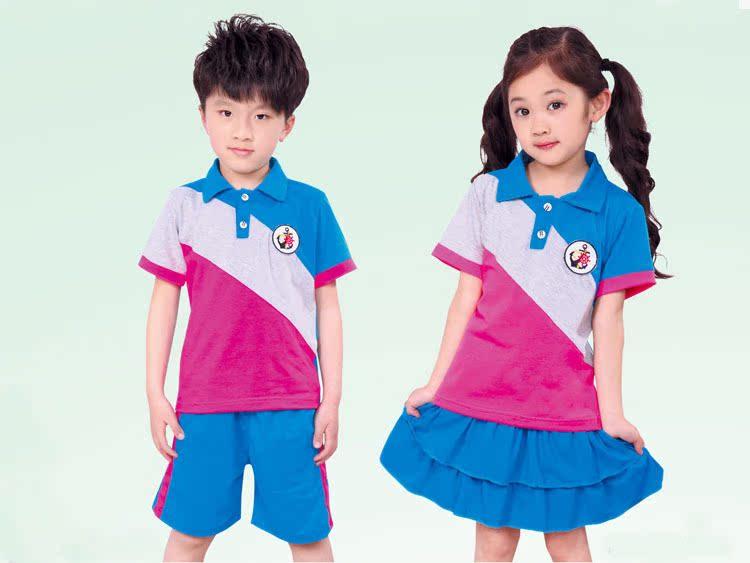 【2014夏季儿童装小学园园服幼儿老师小学老学生十的校服一图片