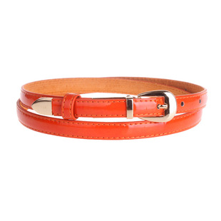 Hot new OL candy patent leather women's thin belt women's leather belt Korean fashion wholesale mixed batch