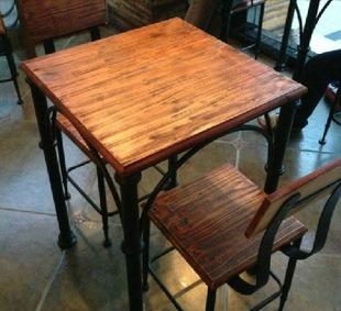 铁艺休闲吧台桌椅室内阳台桌椅创意宜家咖啡桌椅三件套装