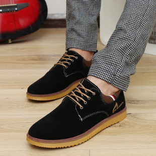New winter men's casual shoes, men's complex Gubuluoke British matte leather shoes on behalf of wild male fashio