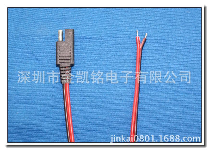 【黑线电池板充电线SAE连接线2468红太阳270克cvc小毛圈图片