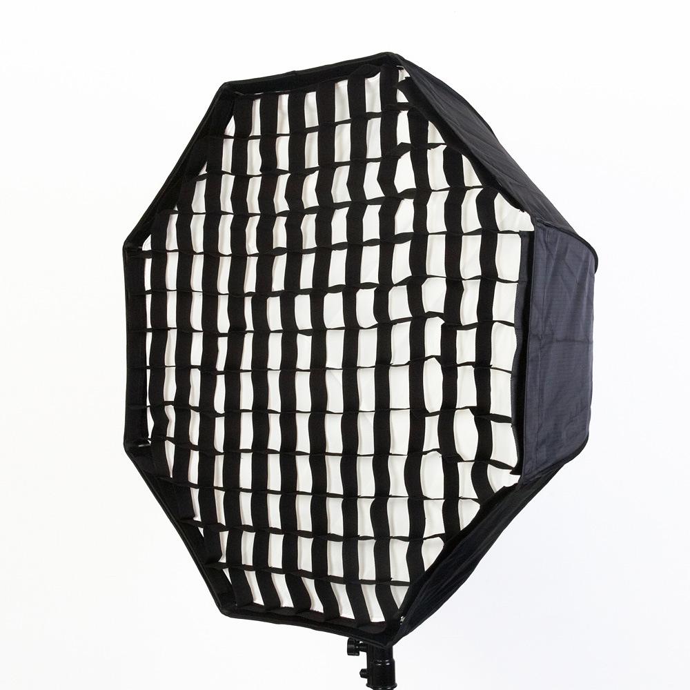 带网格伞式柔光箱 八角 120cm 闪光灯用厂家直销摄影道具 PSCS1G