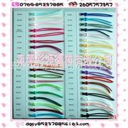 彩源供应七彩韩国绳 彩色韩国丝 中国结线绳 黑白色现货 五彩绳