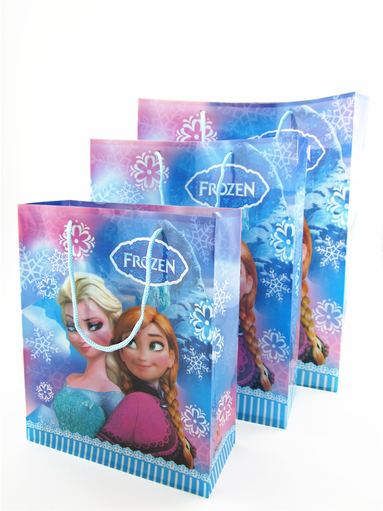 Spot Colors Pvc Gift Bag Frozen Ice Receive Toys For Children Good Quality Handbag