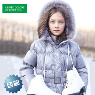 Benetton thicker girls down jacket and long sections warm childr