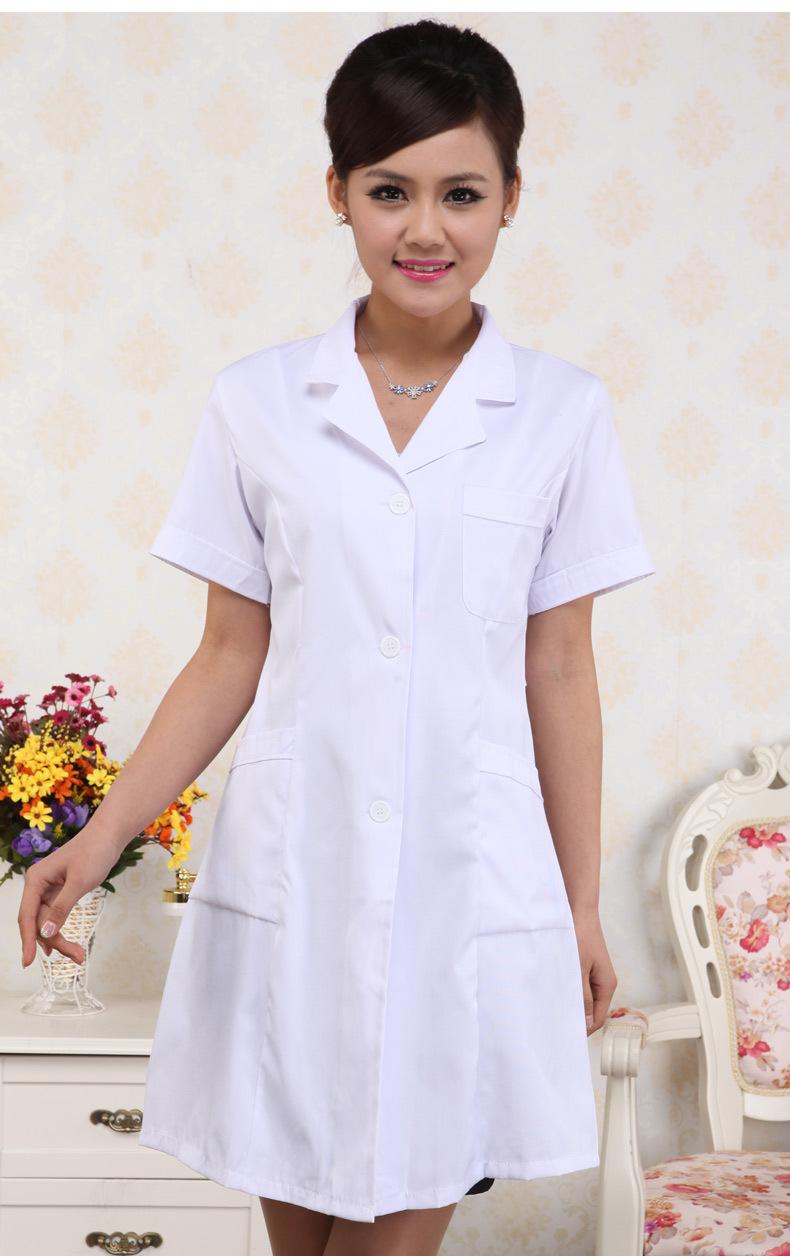 【医用白大褂长袖女医生护士药师工作服美容师