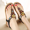 2016 new sandals with big size new han edition Sandals Bohemia flats beaded big yards for women's shoes