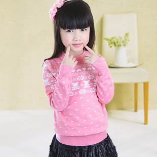 Winter 2014 new children's clothing girls sweater thick sweater children sweater explosion models princess sweet cle
