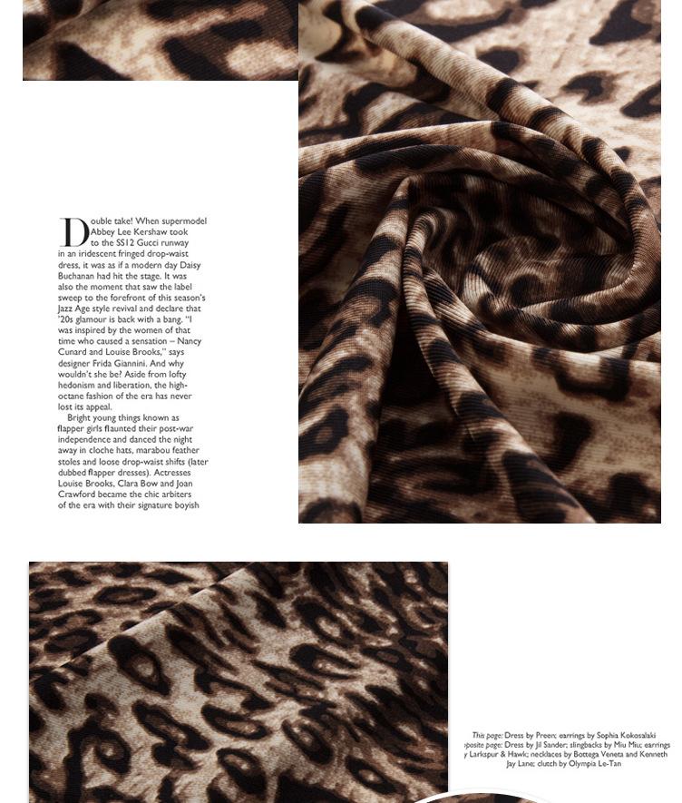 锦纶超薄平纹豹纹印花 超细平纹布 超轻薄纬编布图片四