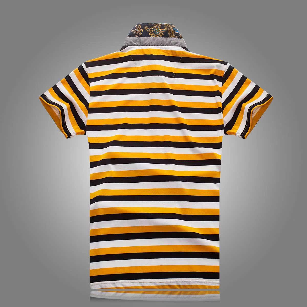 男士 新款 翻领/多比伦服饰2014夏季男装翻领新款男式t恤全棉男士短袖8507