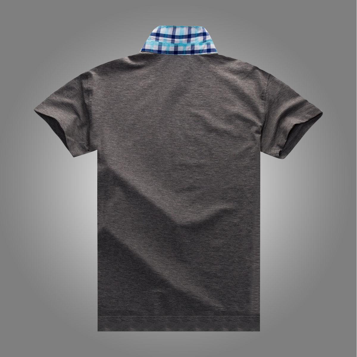 男士 新款 翻领/多比伦服饰2014夏季男装翻领新款男式t恤全棉男士短袖8502