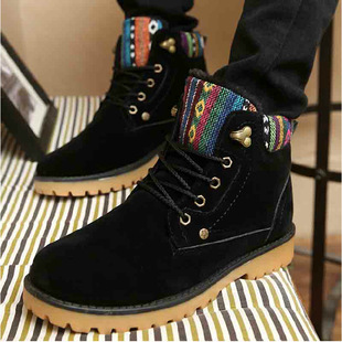 Factory direct explosion models women casual shoes tide Martin boots plus velvet warm snow boots tooling boots wholesale